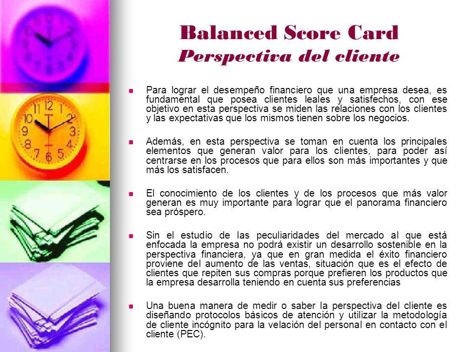 Balanced Score Card Perspectiva del cliente