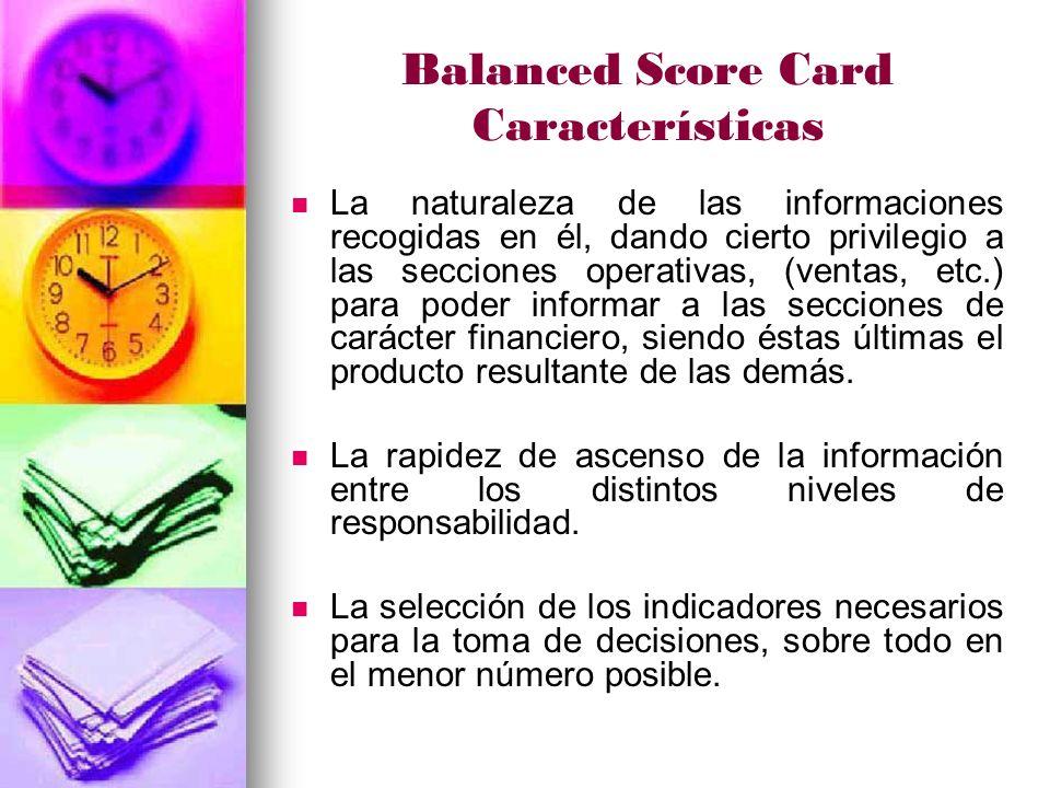 Balanced Score Card Características