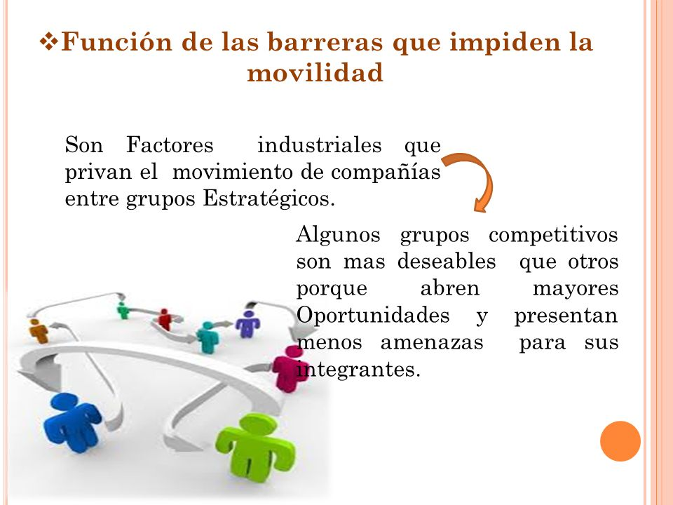 Función de las barreras que impiden la movilidad