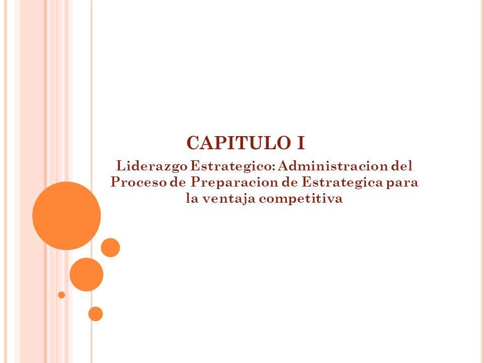 CAPITULO I Liderazgo Estrategico: Administracion del Proceso de Preparacion de Estrategica para la ventaja competitiva.