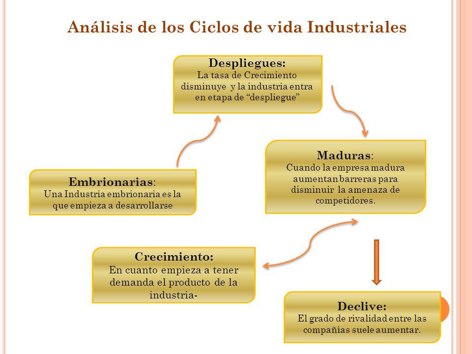 Análisis de los Ciclos de vida Industriales