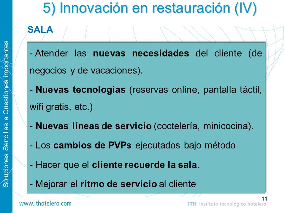 5) Innovación en restauración (IV)