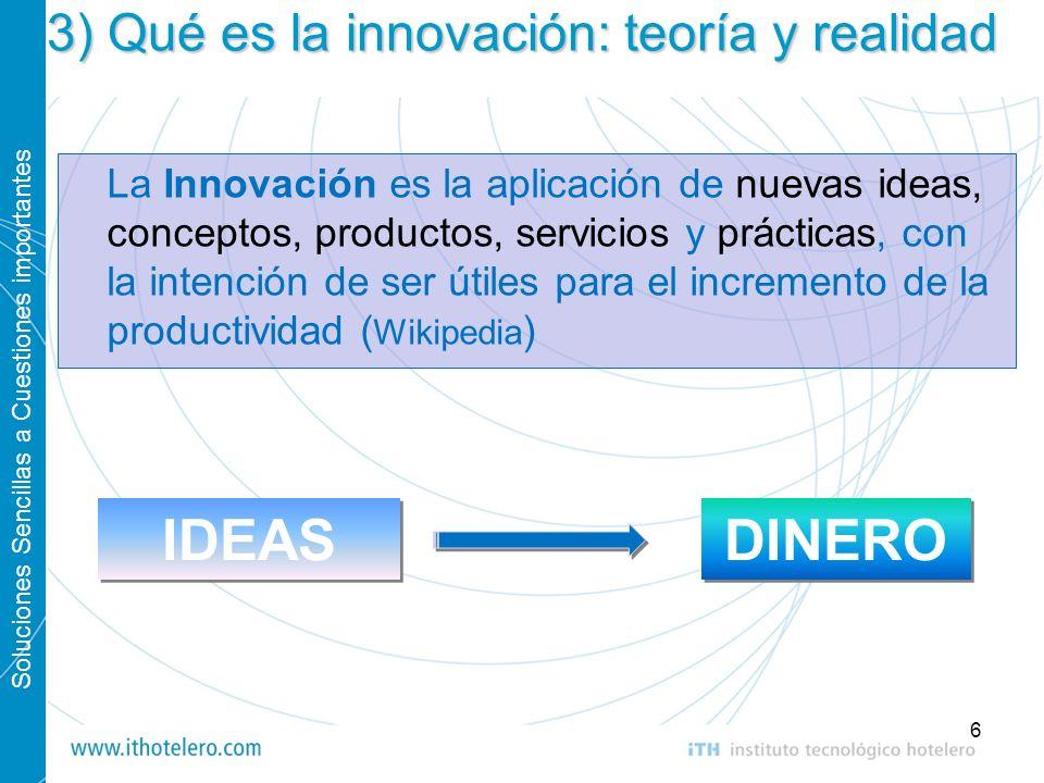 3) Qué es la innovación: teoría y realidad