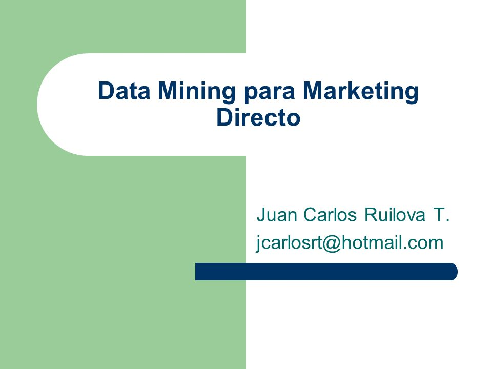 Data Mining para Marketing Directo