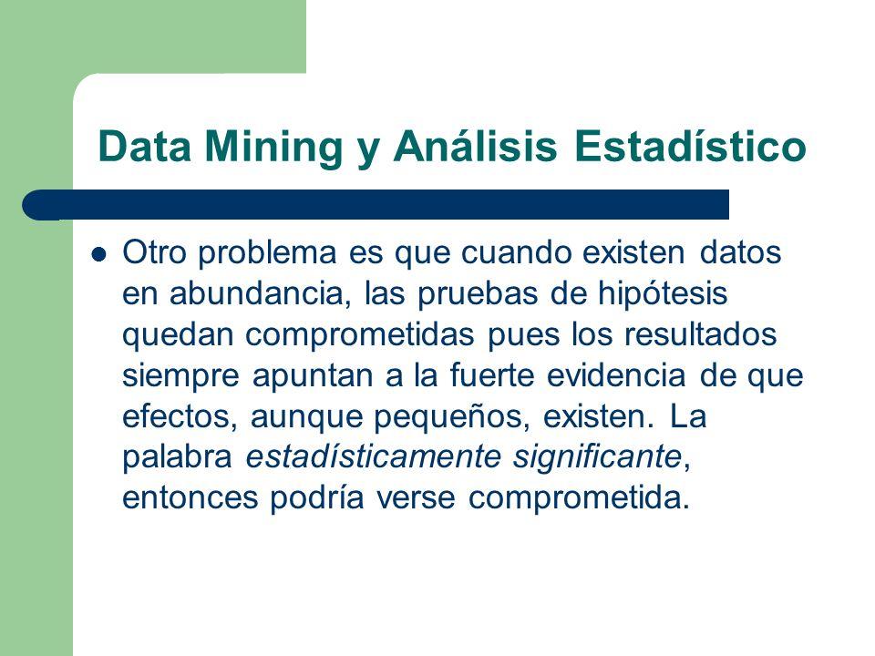 Data Mining y Análisis Estadístico