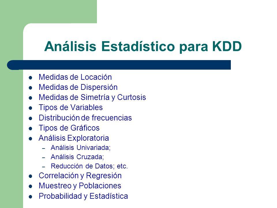 Análisis Estadístico para KDD