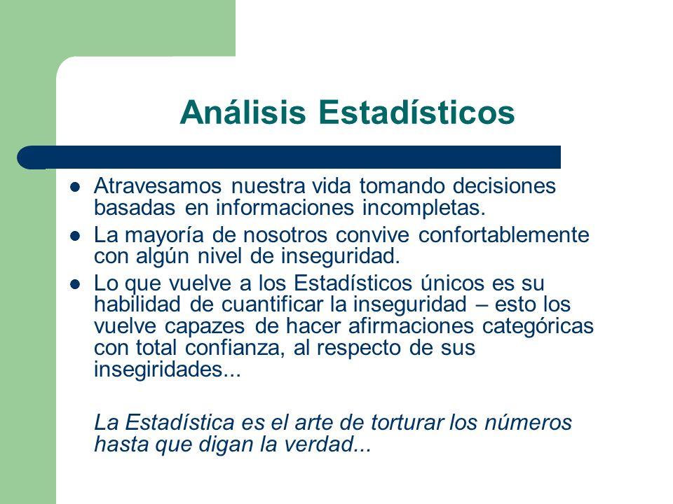 Análisis Estadísticos
