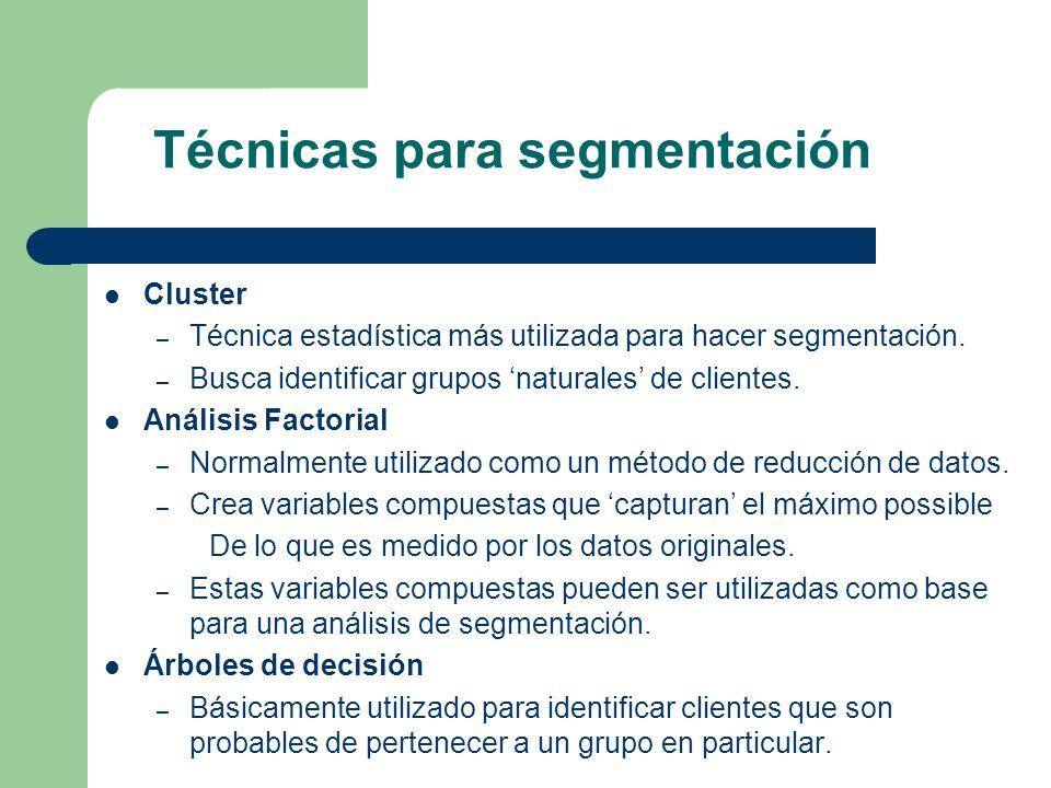 Técnicas para segmentación