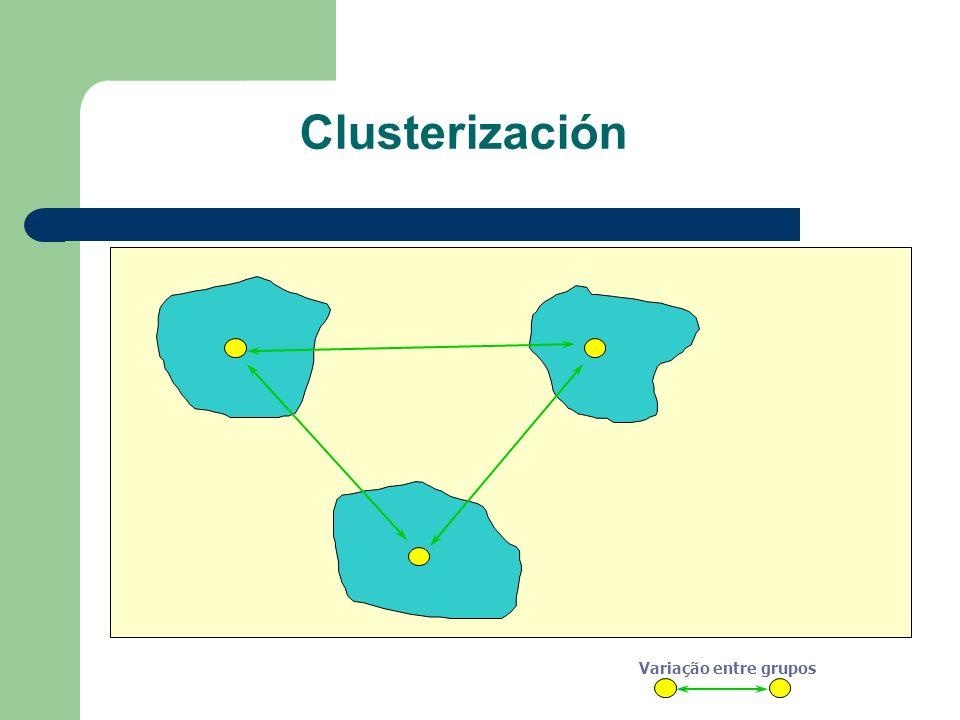 Clusterización Variação entre grupos