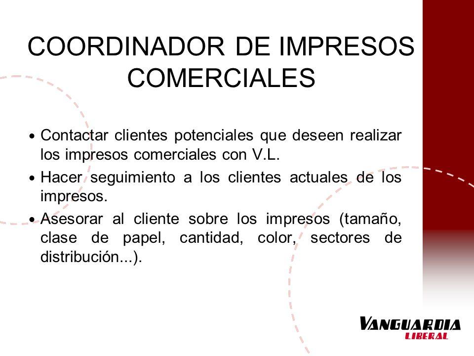 COORDINADOR DE IMPRESOS COMERCIALES