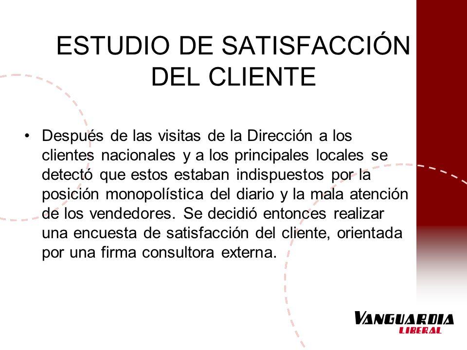 ESTUDIO DE SATISFACCIÓN DEL CLIENTE