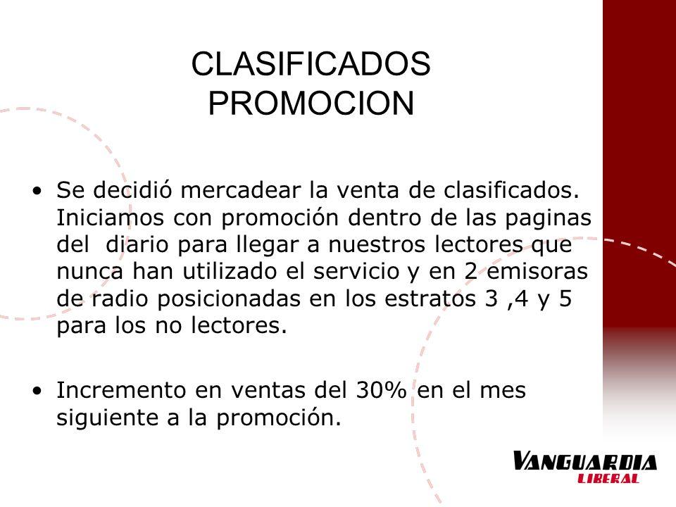 CLASIFICADOS PROMOCION