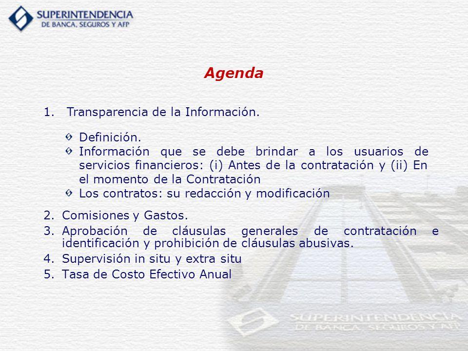 Agenda Transparencia de la Información. Definición.