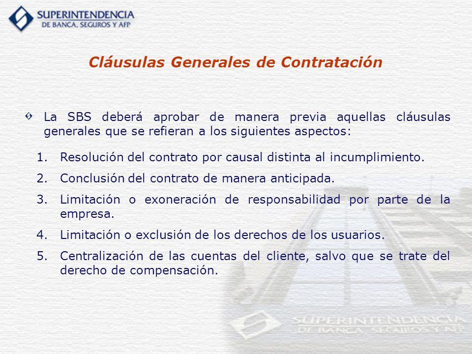 Cláusulas Generales de Contratación