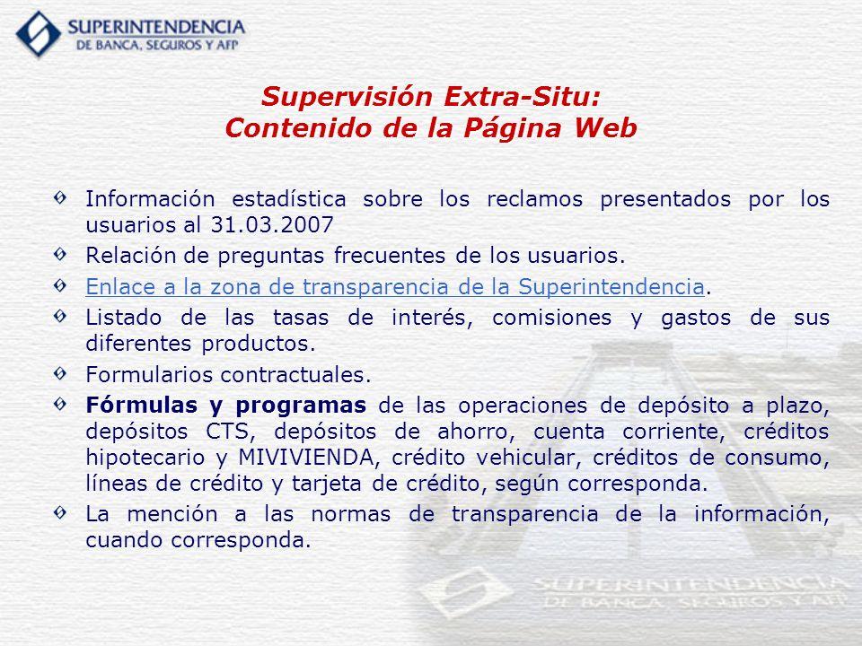 Supervisión Extra-Situ: Contenido de la Página Web