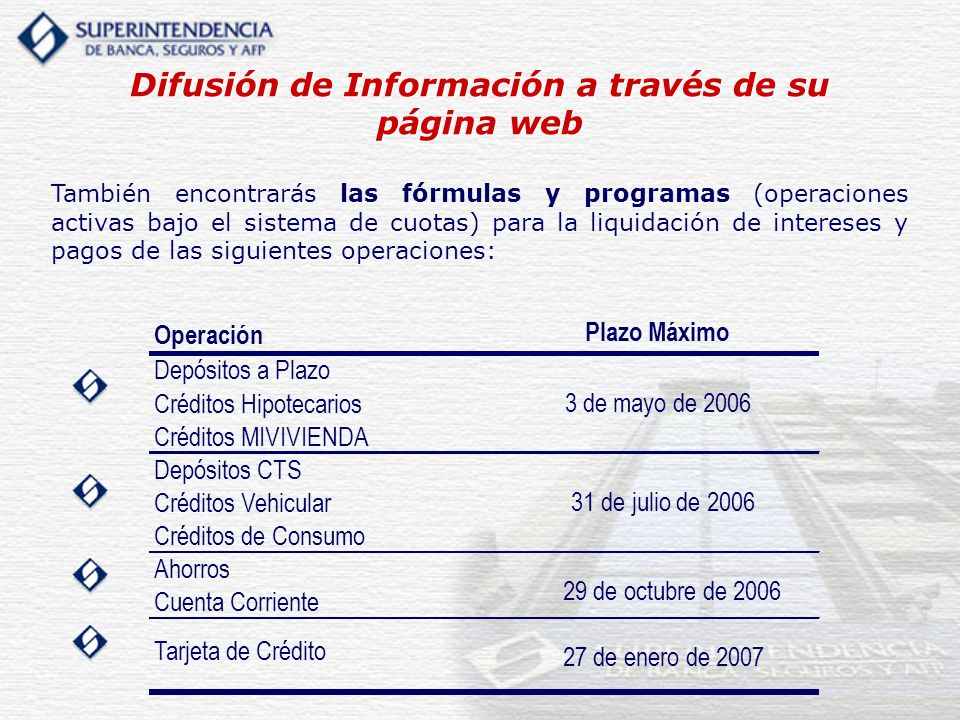 Difusión de Información a través de su página web