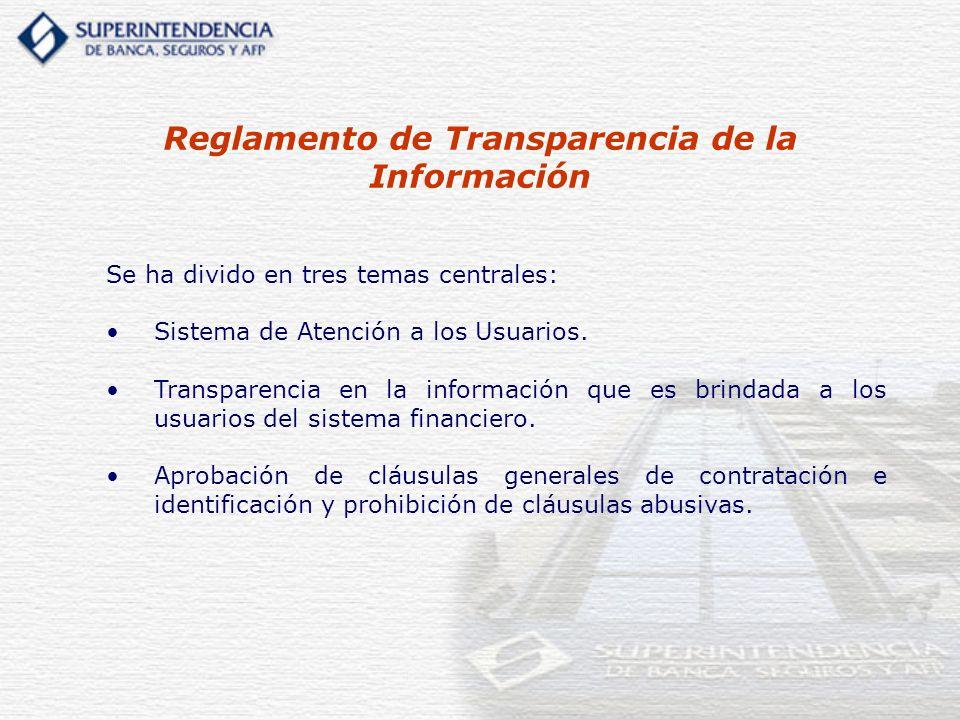 Reglamento de Transparencia de la Información