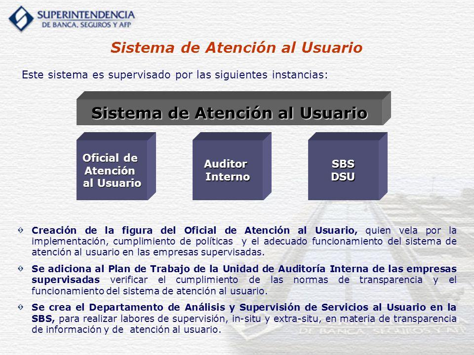 Sistema de Atención al Usuario Sistema de Atención al Usuario