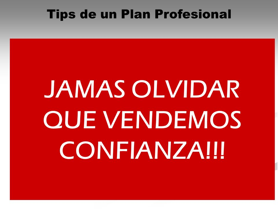 Tips de un Plan Profesional