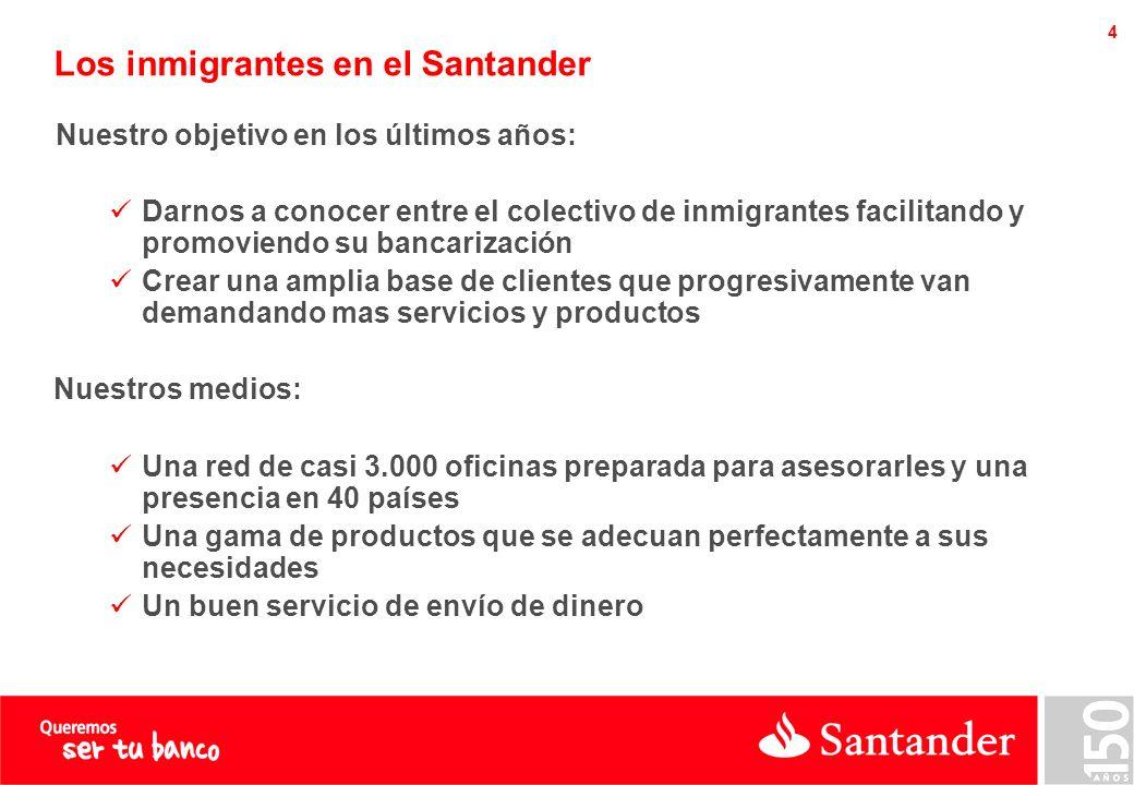 Remesas de dinero en el Santander