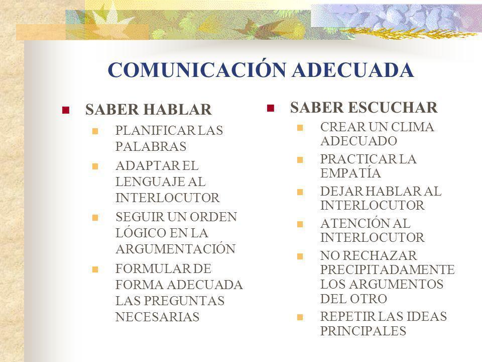 COMUNICACIÓN ADECUADA