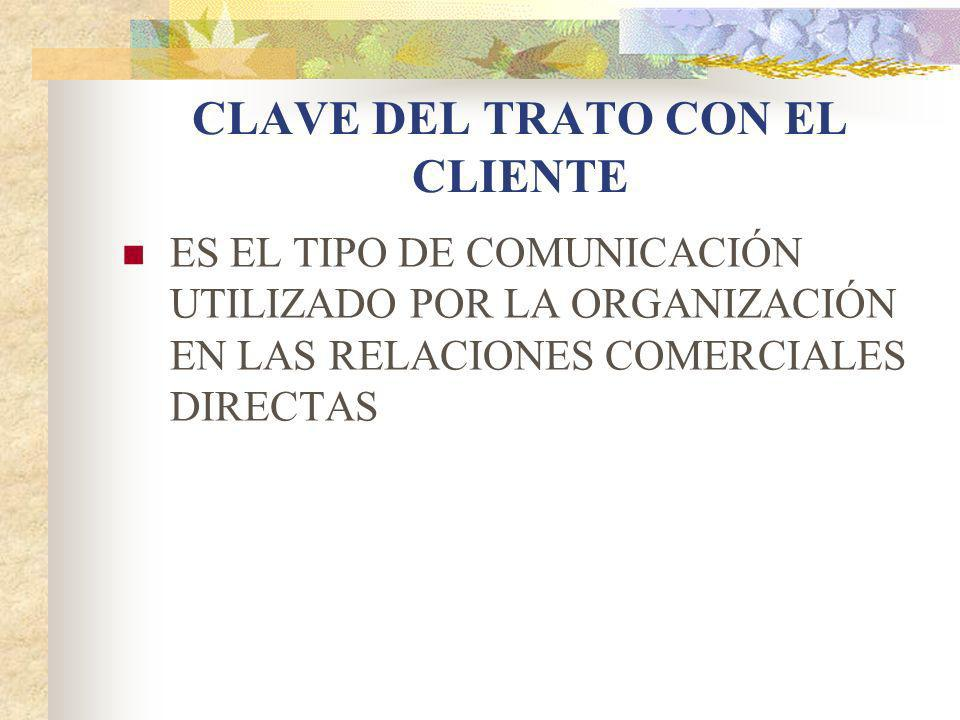 CLAVE DEL TRATO CON EL CLIENTE
