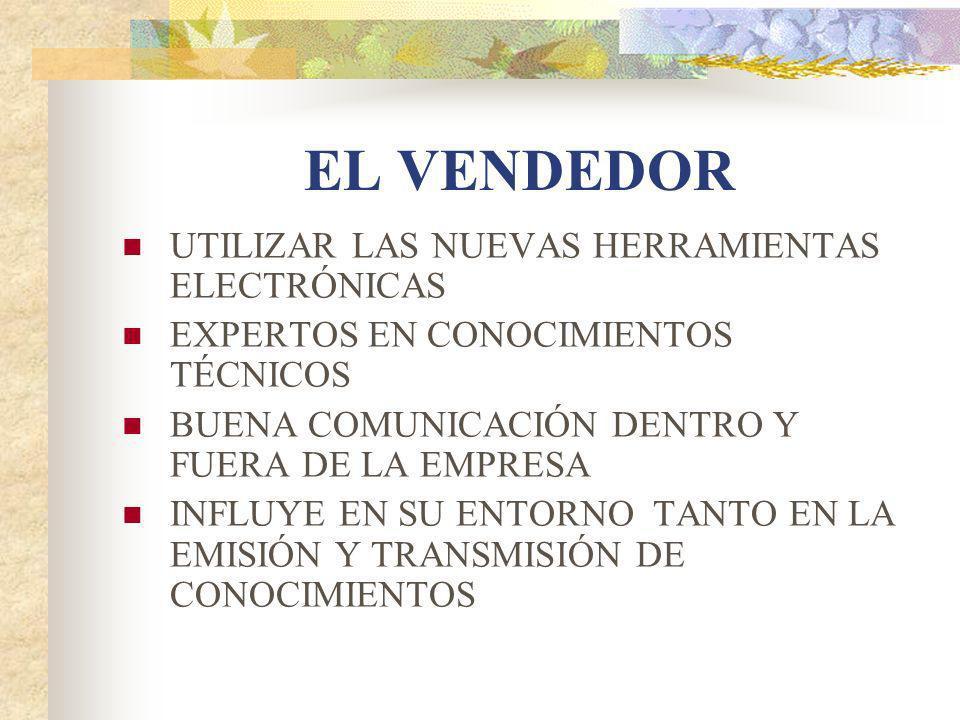 EL VENDEDOR UTILIZAR LAS NUEVAS HERRAMIENTAS ELECTRÓNICAS
