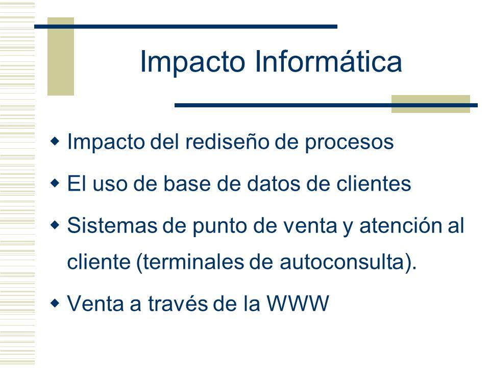 Impacto Informática Impacto del rediseño de procesos