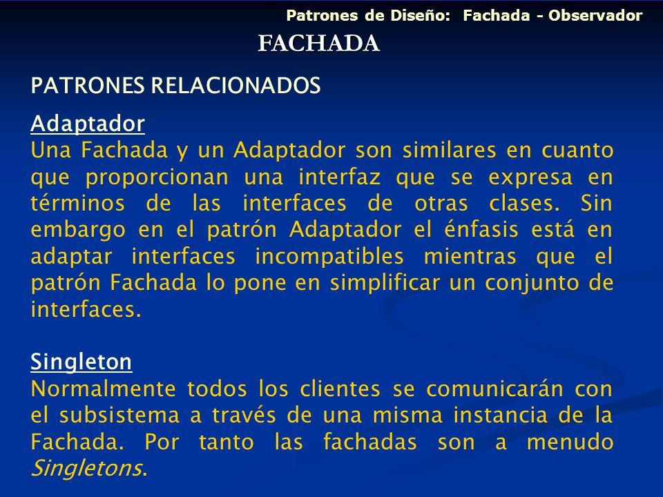 FACHADA PATRONES RELACIONADOS Adaptador