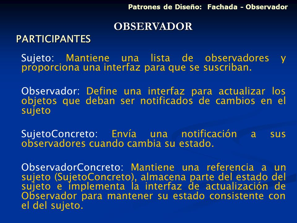 OBSERVADOR PARTICIPANTES
