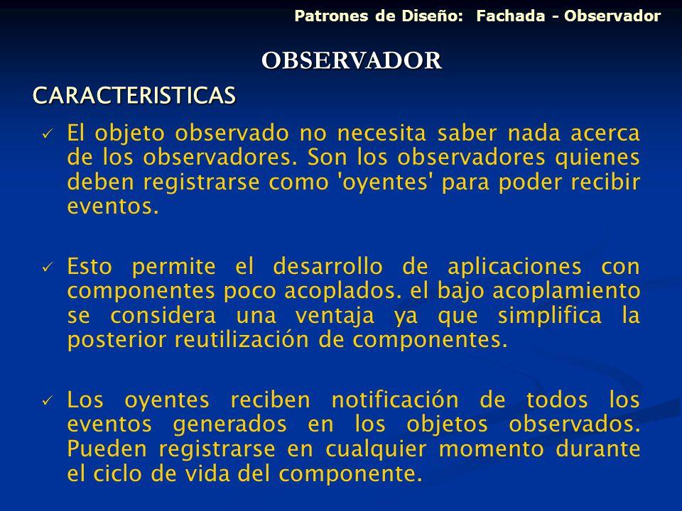 OBSERVADOR CARACTERISTICAS