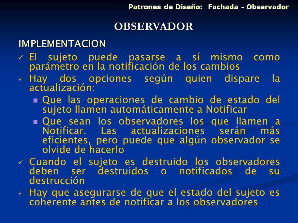 OBSERVADOR IMPLEMENTACION