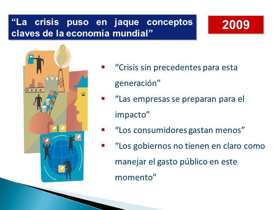 2009 La crisis puso en jaque conceptos claves de la economía mundial
