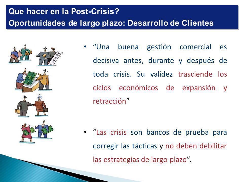 Que hacer en la Post-Crisis