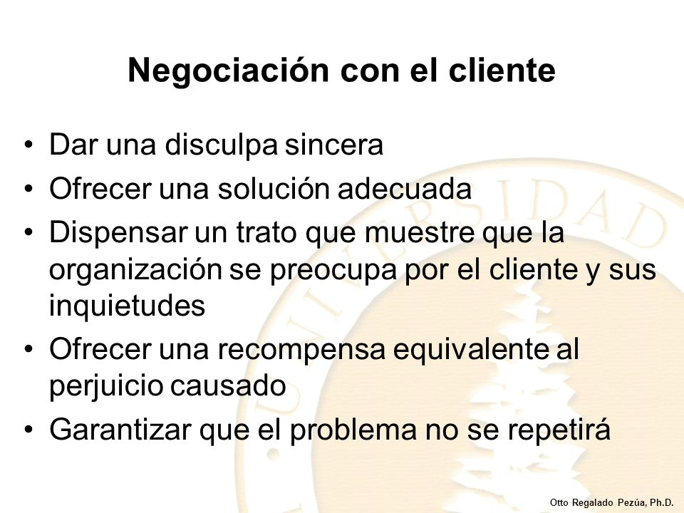 Negociación con el cliente