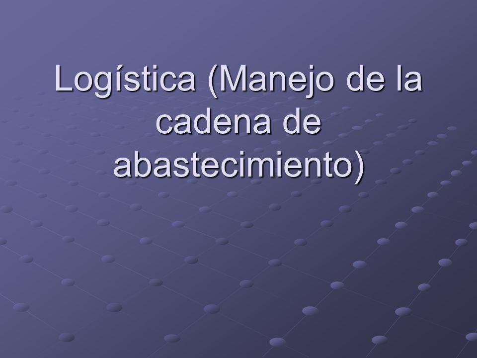 Logística (Manejo de la cadena de abastecimiento)