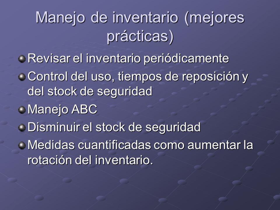Manejo de inventario (mejores prácticas)