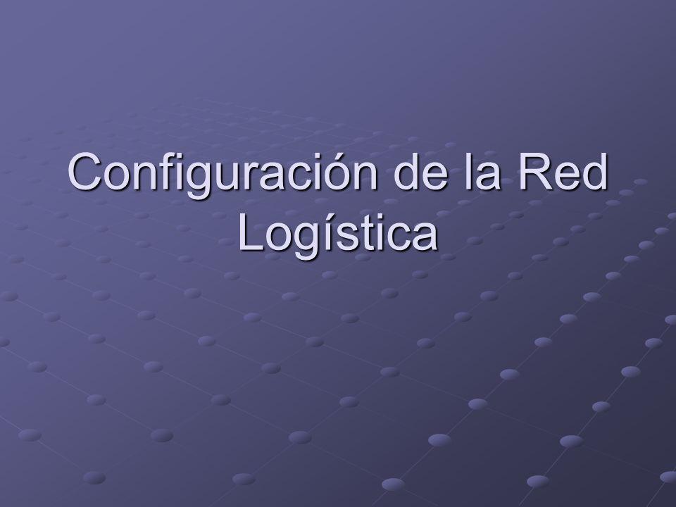 Configuración de la Red Logística