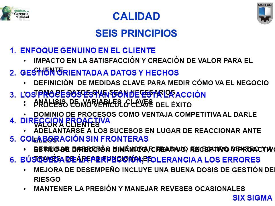 CALIDAD SEIS PRINCIPIOS ENFOQUE GENUINO EN EL CLIENTE