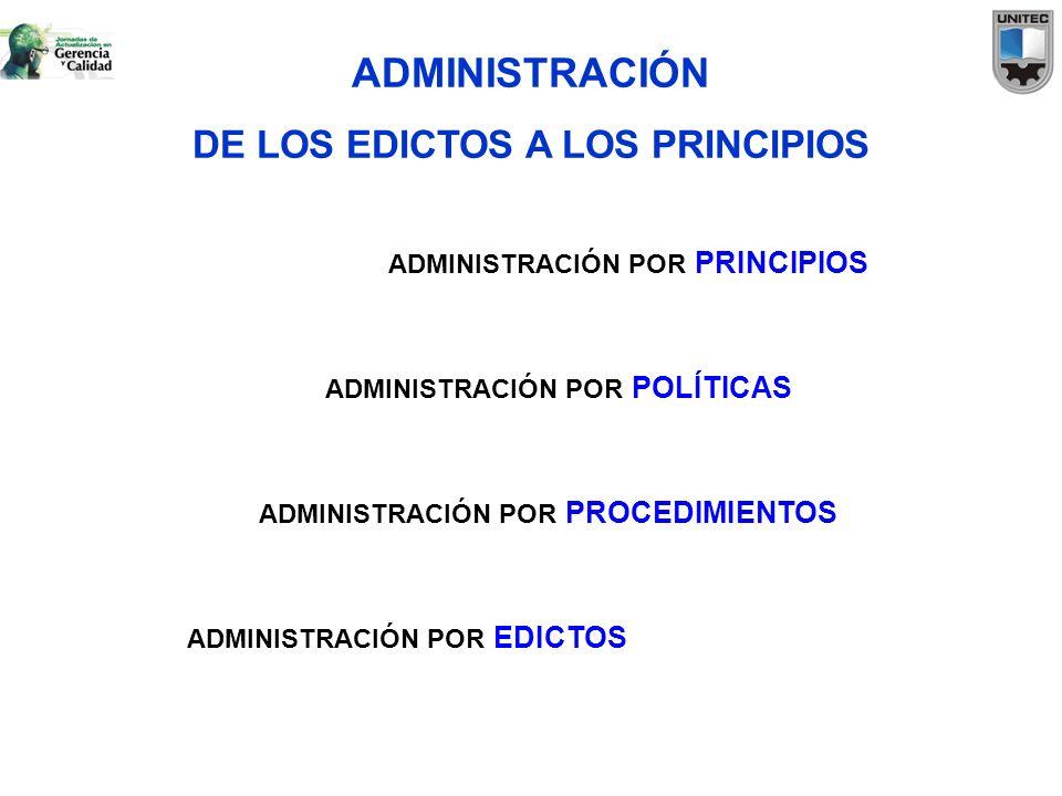 DE LOS EDICTOS A LOS PRINCIPIOS