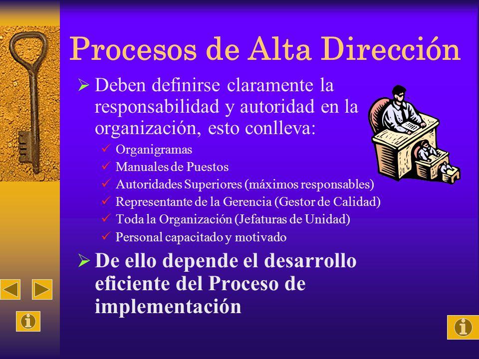 Procesos de Alta Dirección