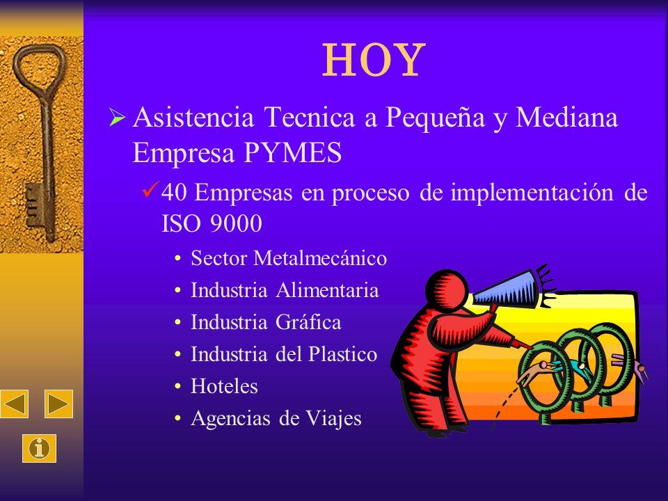 HOY Asistencia Tecnica a Pequeña y Mediana Empresa PYMES