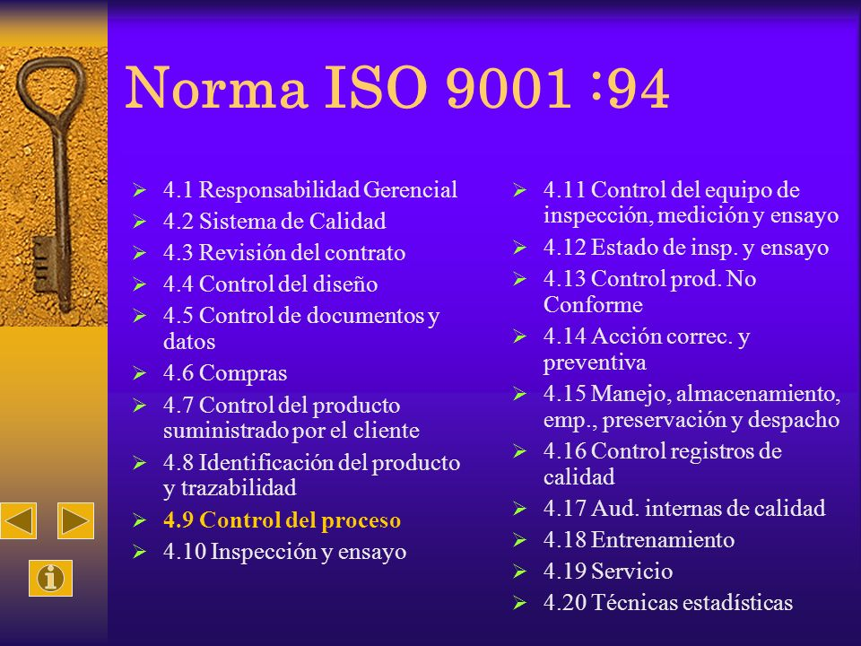 Norma ISO 9001 :94 4.1 Responsabilidad Gerencial