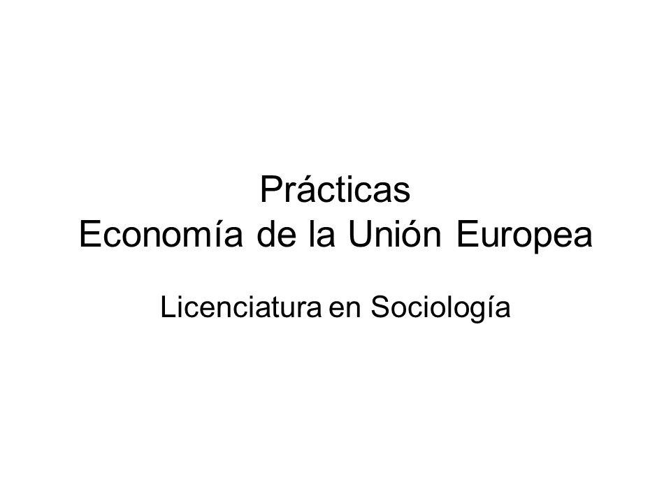 Prácticas Economía de la Unión Europea