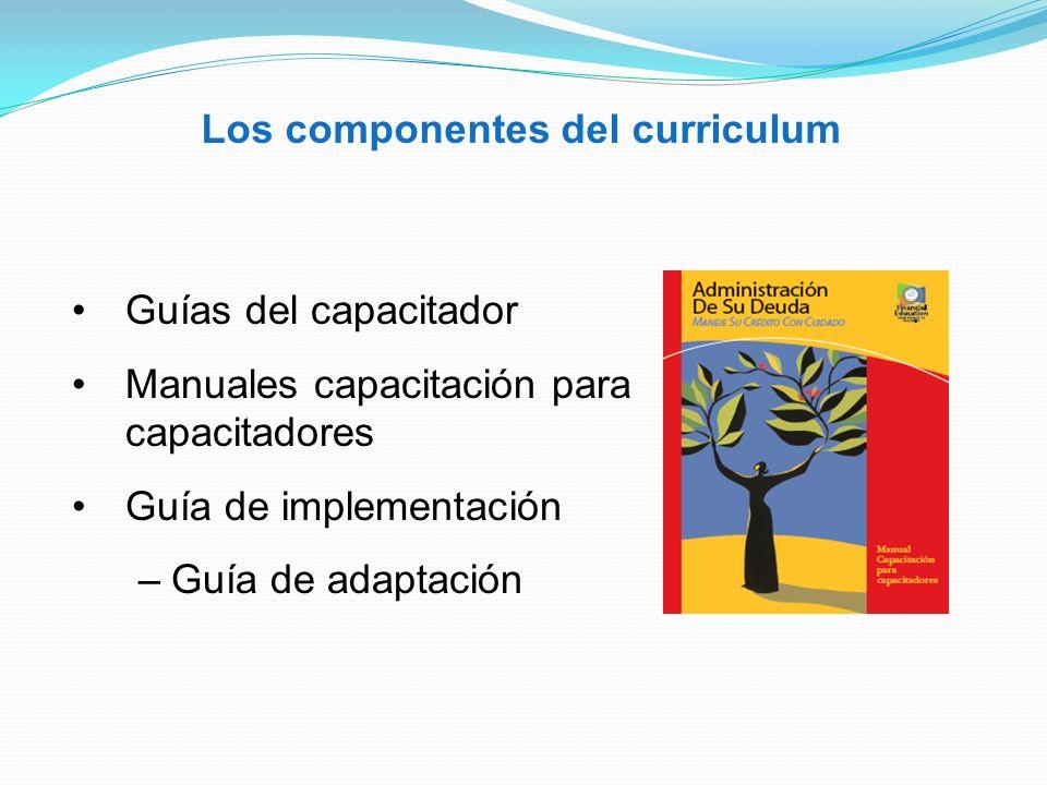 Los componentes del curriculum