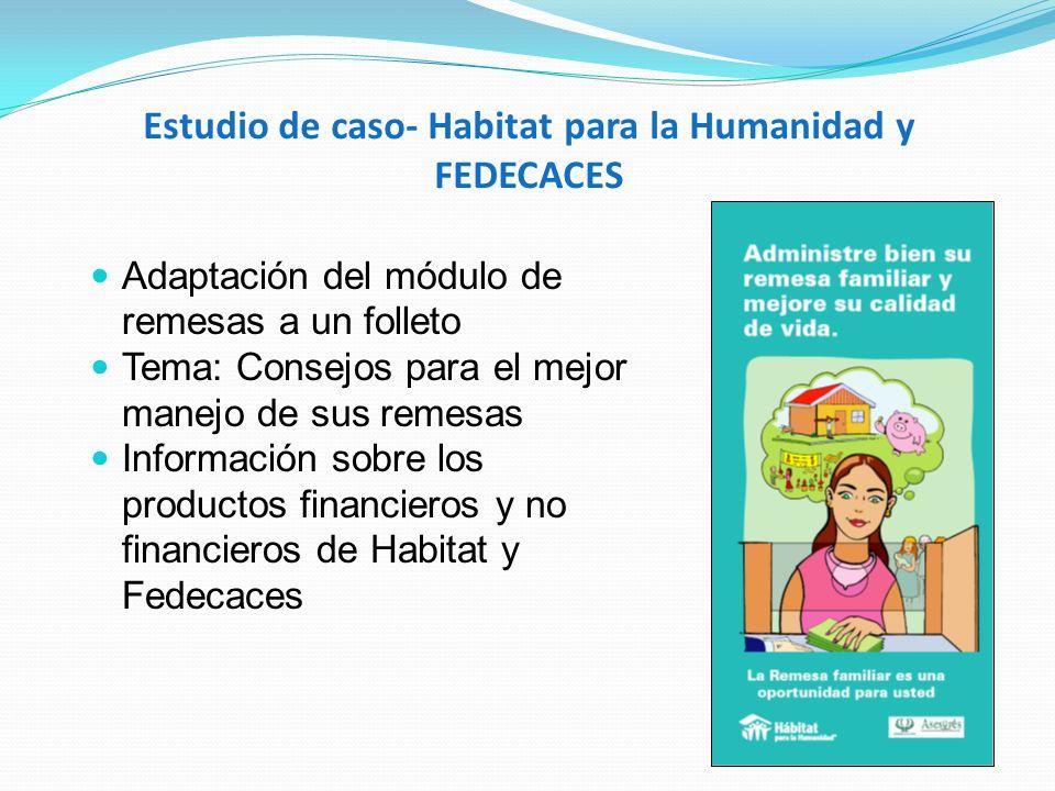 Estudio de caso- Habitat para la Humanidad y FEDECACES