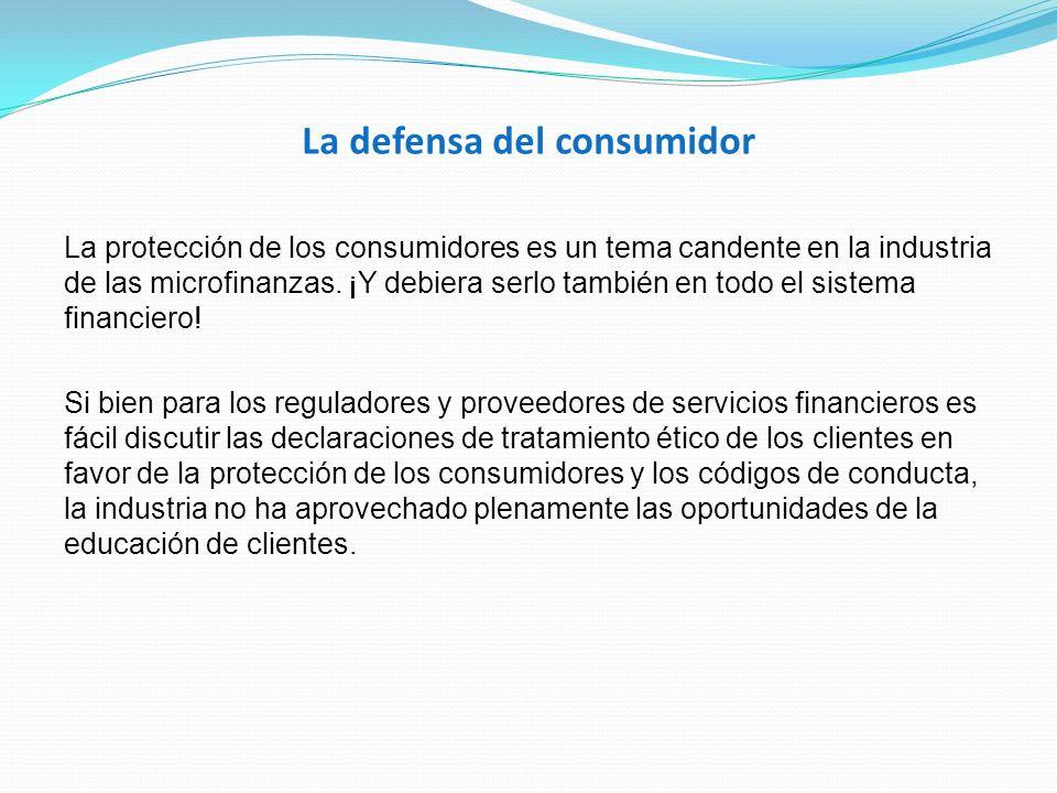 La defensa del consumidor