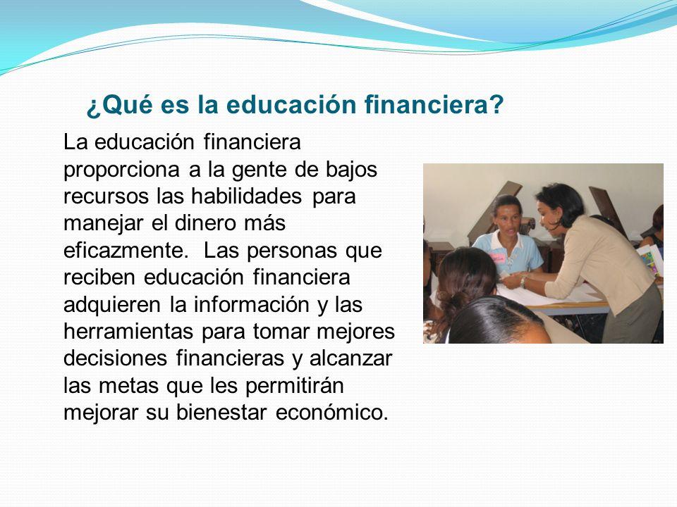 ¿Qué es la educación financiera