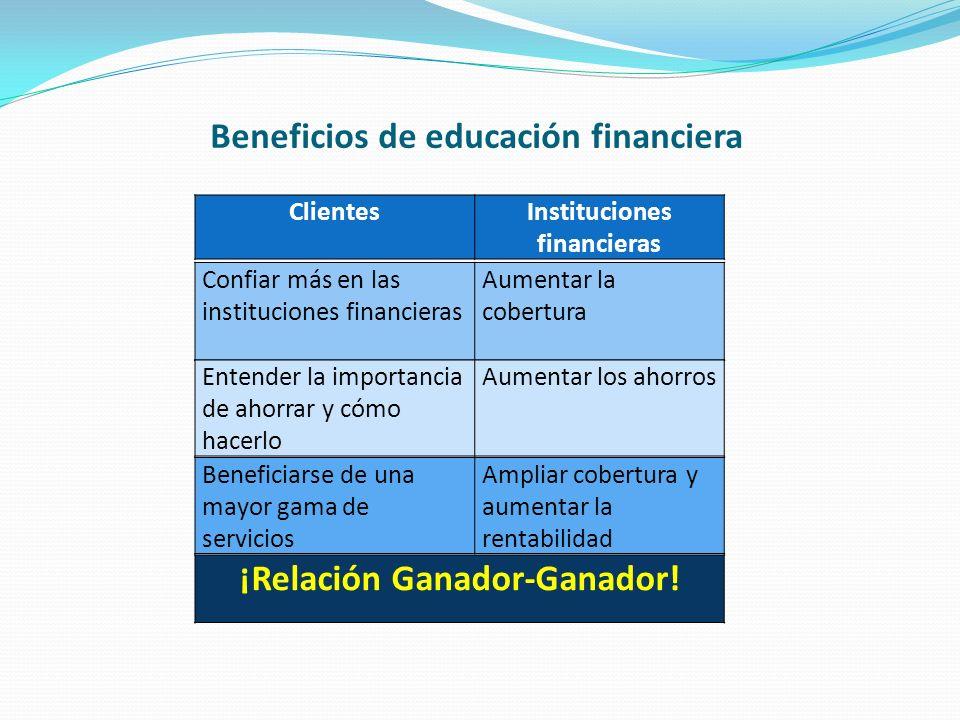 Beneficios de educación financiera