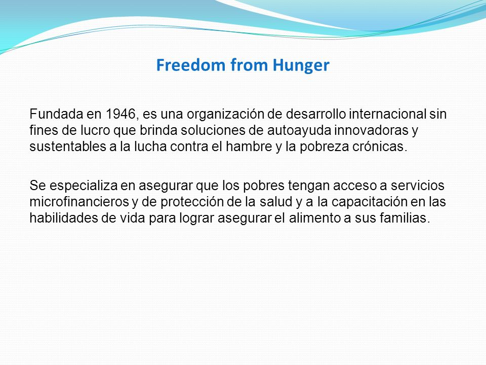Freedom from Hunger